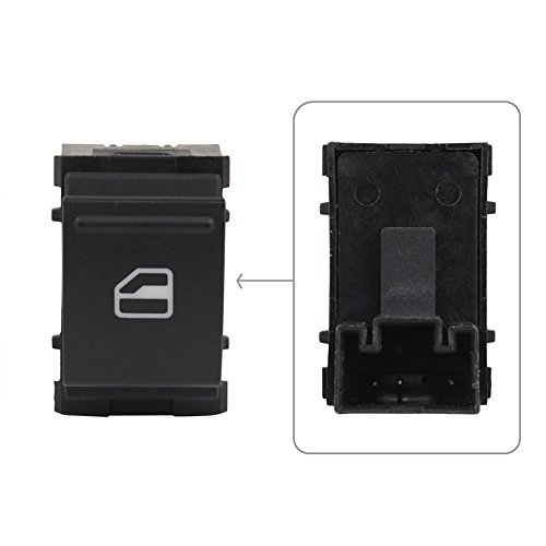 2013 Volkswagen Jetta Window - Power Window Control Switch Single Button Front Rear Left or Right Passenger Side Fits 7L6959855B for VW Caddy EOS Golf Jetta Passat Polo Scirocco Sharan Tiguan Touran Touareg/ZBN