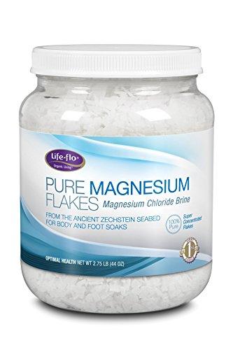 Life-flo Pure Magnesium Flakes, 44 (Magnesium Bath Crystals)