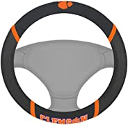 FANMATS NCAA Clemson University Tigers Polyester Steering Wheel Cover