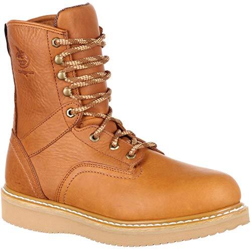Georgia Boot Men's 8 Inch Wedge Steel Toe Work Shoe, Barracuda Gold, 10.5 M US