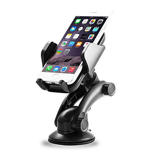 XSPUS Car Mount Holder, [3 in 1] Windshield Holder, Instrument Panel stand, Air outlet Holder Adjustable Suitable iPhone X 8 8Plus 7 7Plus 6 6sPlus, Galaxy S9 S8 S7 S6 Note 8 5 and Other phone