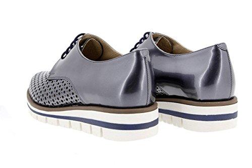 Calzado mujer confort de piel Piesanto 1702 Zapato Cordón cómodo ancho Marino