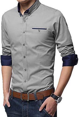 VINAYAK ENTERPRISE Full Sleeve Slim Fit Plain Formal Shirt for Men Cotton Shirts Office wear Formal Shirt