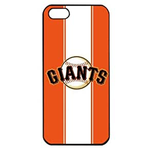 MLB Major League Baseball San Francisco Giants Apple iPhone 5 TPU Soft Black or White case (Black)