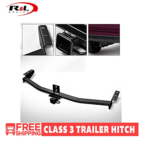 R&L Racing Black Class 3 Trailer Hitch Receiver Rear Bumper Tow Kit 2
