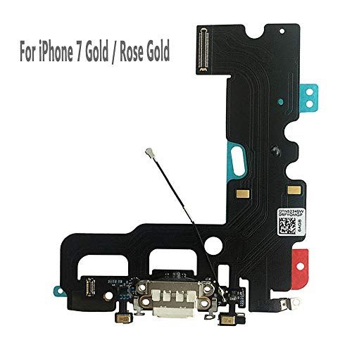 UTechZH USB Charging Port Headphone Jack Dock Connector W/Mic Flex Cable Cellular Antenna Replacement Part Compatible for iPhone 7 4.7