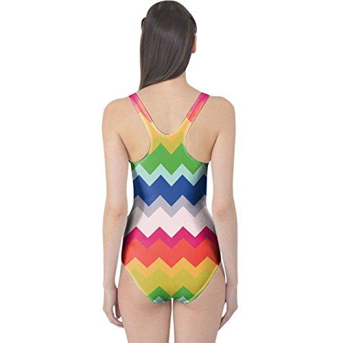 Multicolor Chevron Rainbow Women's Swimsuit Badeanzug XS-3XL qoTIj4u