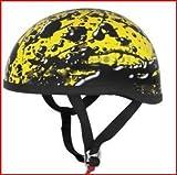 Skid Lid Helmets Original Oil Spill Helmet , Distinct Name: Oil Spill Yellow, Gender: Mens/Unisex, Helmet Category: Street, Helmet Type: Half Helmets, Primary Color: Yellow, Size: XS 646980