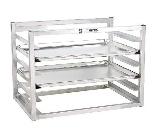 Home Décor Premium 10 Pan Side Load Wall Mount Sheet/Bun Pan Rack - Assembled Storage Durable Strong Decorative
