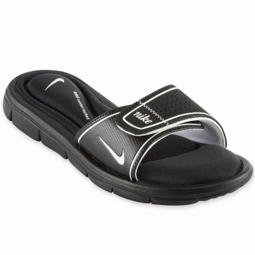 Nike Womens Comfort Slide Black/White Sandal 8 B - - Comfort Womens Sandal