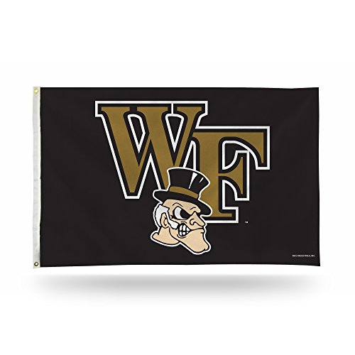 Rico Industries NCAA Wake Forest Demon Deacons 3-Foot by 5-Foot Single Sided Banner Flag with Grommets For Sale