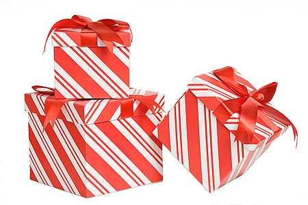 - 3 Piece Candy Cane Gift Boxes