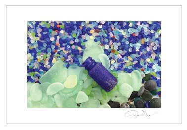 [Blue Bottle Sea Glass Postcard Prints 10 Pack 4x6 Best Gifts, Birthday Cards, Thank You Notes & Invitations. Unique Christmass, & Valentines Day Gifts for Women, Men and Kids of All Ages] (Deluxe Blue Gift Basket)
