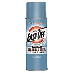 Professional EASY-OFF Stainless Steel Cleaner & Polish, Liquid, 17 oz. Aerosol Can - six 17-ounce aerosol cans per case.