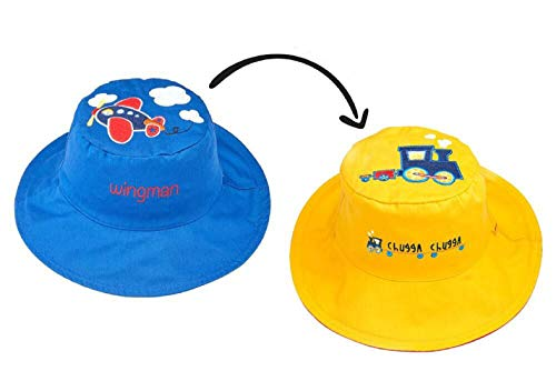 (FlapJackKid's Sun Hats - UPF 50 Medium: 2-4 years, (Plane/Train) )
