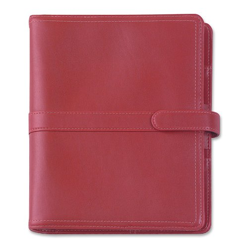 - Day-Timer Simulated Leather Organizer, Magnetic Tab, Desk Size Planner, 5.5 x 8.5 Inches, Red (D44317)