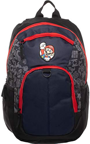 Super Mario Backpack 18inch Book Bag with laptop sleeve