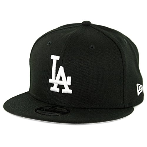 New Era 950 Los Angeles Dodgers Basic Snapback Hat (Black/White) Men