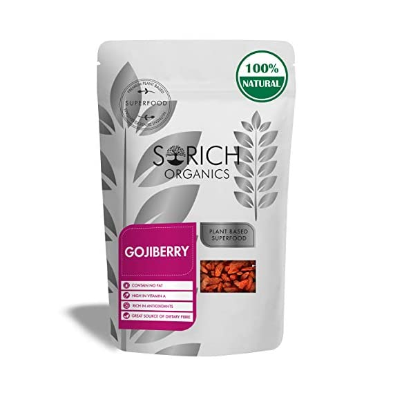 Sorich Organics Naturally Dried Goji Berries Unsulphured Unsweetened and Naturally Dehydrated Fruits 150 Gm