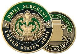 United States Army Drill Sergeant Challenge Coin (HMC 22339) ()