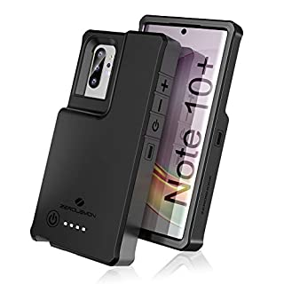 ZEROLEMON Galaxy Note 10 Plus Battery Case 10000mAh, Fast Charging & Qi Wireless & Android Auto & Samsung Dex Supported, ZeroShock Extended Battery Charger Protective Case for Galaxy Note 10+ Black