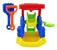 Rotating Sand Wheel Beach Toy Set for Kids with Shovel and Rake from Liberty Imports