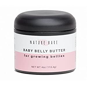 Nature Bare Body Care - Baby Belly Butter - Stretch Mark Cream for Pregnancy - Vegan, All Natural, Fragrance Free Ingredients - Helps Prevent and Heal Stretch Larks and Scars