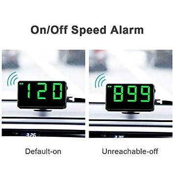Digital Universal Head Up Display Auto HUD Mit Geschwindigkeitswarnung//Auto-Uhr Kilometerstand//Fahrzeit Universal-Kilometerz/ähler F/ür Fahren Laufleistung Zeitberechnung gfyee Auto HUD Tachometer