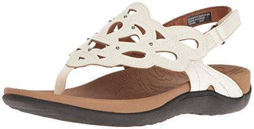 Rockport Women's Ridge Sling Sandal, White, 10 M US