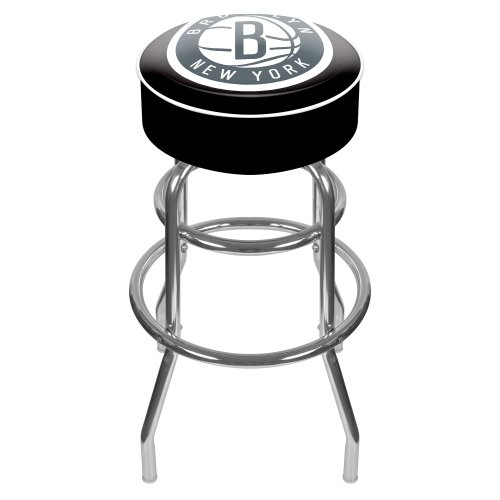 Trademark Gameroom NBA Brooklyn Nets Padded Swivel Bar Stool by Trademark Gameroom