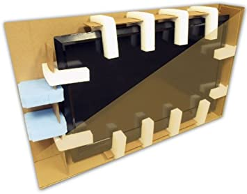 "24/"" LCD TV Moving Storage Box with 4 Foam U Corners 25-35"