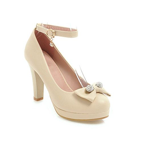 De Primavera Femenino De Solo Boca Zapatos Cabeza GAOLIM Pajarita Calzado Chicas Beige Superficial Tacón Zapatos Redonda S4wxT55g