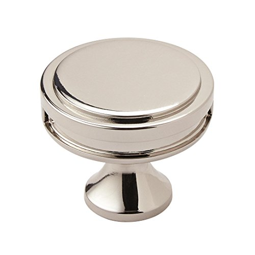 Amerock BP36603PN Oberon 1-3/8 in (35 mm) Diameter Polished Nickel Cabinet Knob ()