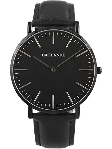 Alienwork Classic St.Mawes Quarz Armbanduhr elegant Quarzuhr Uhr modisch Zeitloses Design klassisch rose gold schwarz Leder U04816G-01