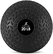 ProsourceFit Slam Medicine Balls 5Lbs Smooth Textured Grip Dead Weight Balls for Crossfit, Strength & Cond