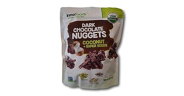 Innofoods - Tetinas de chocolate negro orgánicas con coco y ...