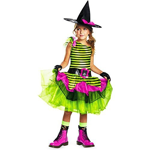 Disguise Tutu'riffic Whimsy Witch Girls Costume, Medium (7-8)