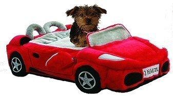 Ferrari Furarri Red Car Dog Bed by Dog Diggin Designs