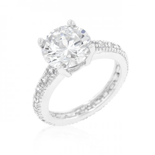 Icon Bijoux R08336R-C01-09 Micro-Pave Cubic Zirconia Engagement Ring (Size: 09) from Icon Bijoux