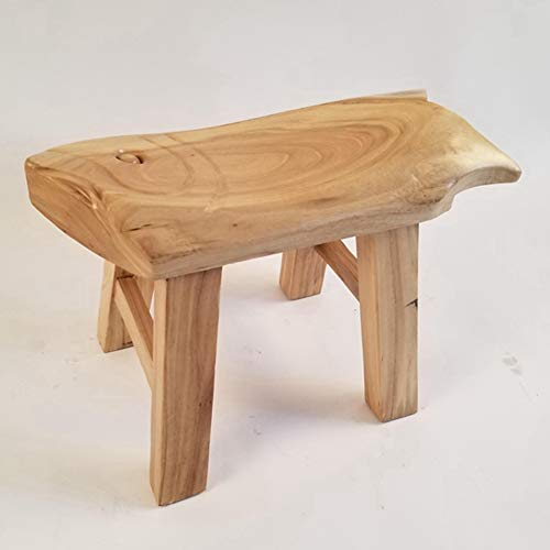 Stools Footstool Work Stool Shower Stool Old Elm Small Bench Change Shoes Primary School Student Household Short Coffee Table Tenon ZHANGQIANG (Color : Wood, Size : -