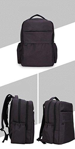 Mochila de pañales de alta calidad con estilo resistente al agua de gran capacidad multi-función pañal mochila con correas de cochecito de bebé , noble grey space black