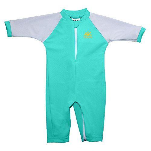 Fiji Sun Protective UPF 50+ Baby Swimsuit by Nozone in Aquatic/Ash, 0-6 months