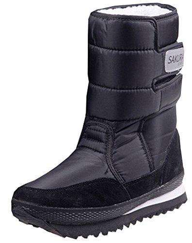 2015 neue Stiefel mit hohen Beinschuhe Plattformfrauen Schneeschuhe wasserdichte Stiefel Schneeschuhe Schwarz