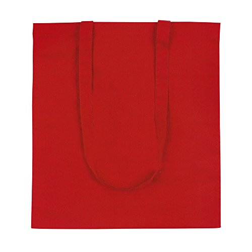 Shoulder eBuyGB Red Shopping eBuyGB Shopping Cotton Bag 100 Tote White qIFwUaF