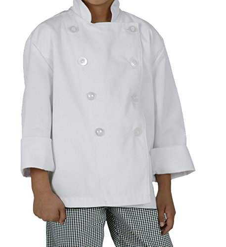 Chef Works Mens Kids Chef Coat, White, Medium by Chef Works