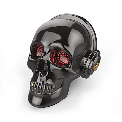Festival Mask Skull Bluetooth Speaker LED Wireless Skeleton Speakers Super Bass Stereo Sound Cool Design with Eyes Light for Halloween Unique Gift Home Party Traveling/Outdoor,Pink Costume Mask -