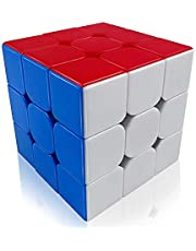 FAVNIC Cyclone Boys Speed Cube Stickerless Enhanced Version Smooth Magic Cube Puzzles(X-3X3X3)