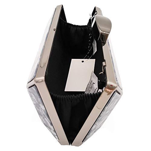 Monedero Negro de Mujer Flada Fiesta acrlico Bolso Bolsos para de Bolsos Negro de Crossbody Embrague Embrague Bolso Xq7wZqv