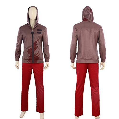 Angels of Death Isaac Foster Zack Outfit Set Halloween Men's Cosplay Costume -