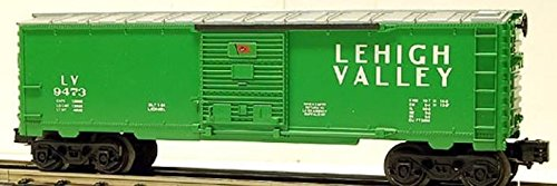 Lionel Trains 6-9473 Lehigh Valley Railroad Boxcar Green Pennsylvania 1984-85 - Lehigh Outlets Valley